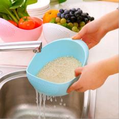 Terang Dapur Kecil Mencuci Beras Tebal, Cuci Beras Saringan Mencuci Beras Pot Plastik Drain Sayuran Keranjang