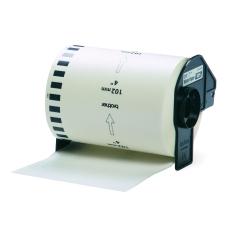 Spesifikasi Brother Label Tape Dk 22243 Continuous Length Film Clear Tape 102 Mm 30 48 M Putih Brother