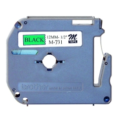 Jual Brother Label Tape M 731 12Mm Black On Green Hitam Lengkap