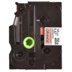 Spek Brother Label Tape Tze B31 Black On Flu 12Mm Orange Brother