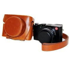 Ulasan Brown Pu Leather Camera Case Bag Cover Untuk Leica D Lux Tpy109 Dengan Strap