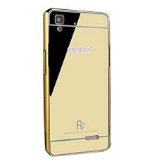 Bumper Mirror Sliding Case Oppo R7 - Gold