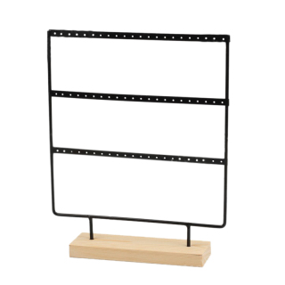 New Earrings Presenting Rack Wooden Base Metal Ear Studs Pendant Jewelry Holder Display Stand Organizer 44 66 Holes thumbnail