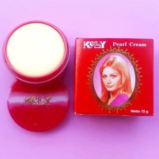 Kelly Pearl Cream 15gr Kemasan besar Krim Wajah thumbnail