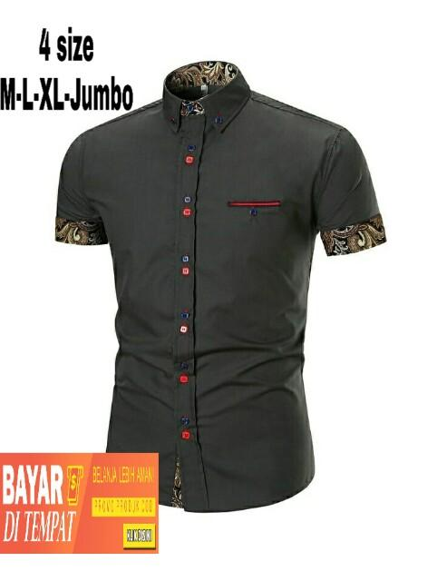 jktcollection kemeja formal SLIM FIT 10 warna/kemeja ASGARD kombi batik 4 UKURAN M-L-