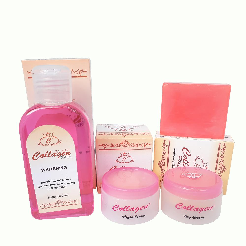 Cream Collagen / Paket Cream Collagen Original Plus Toner Whitening By Beauty Solution.
