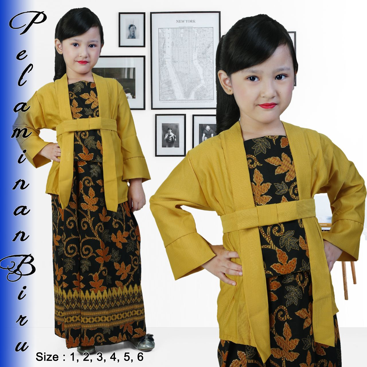 New fashion !!! kebaya kutubaru elnira anak / kebaya anak modern / kebaya tradittional / kebaya wisuda / kebaya kartini