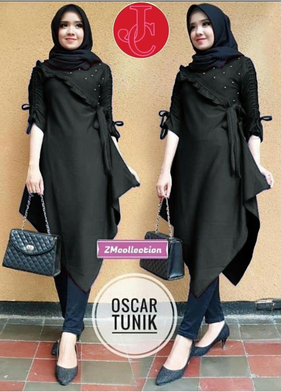 J C Long Tunik Oscar   Tunik Muslim   Tunik Panjang   Baju Tunik   Atasan  Tunik 7c3250e285