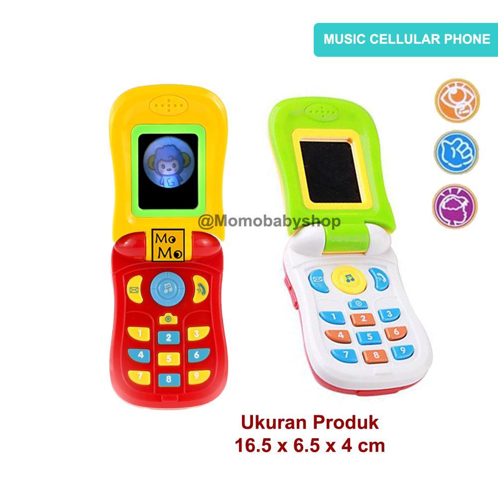 MOMO Toys Music Cellular Phone CY1013A - Mainan Telepon Musik Bayi