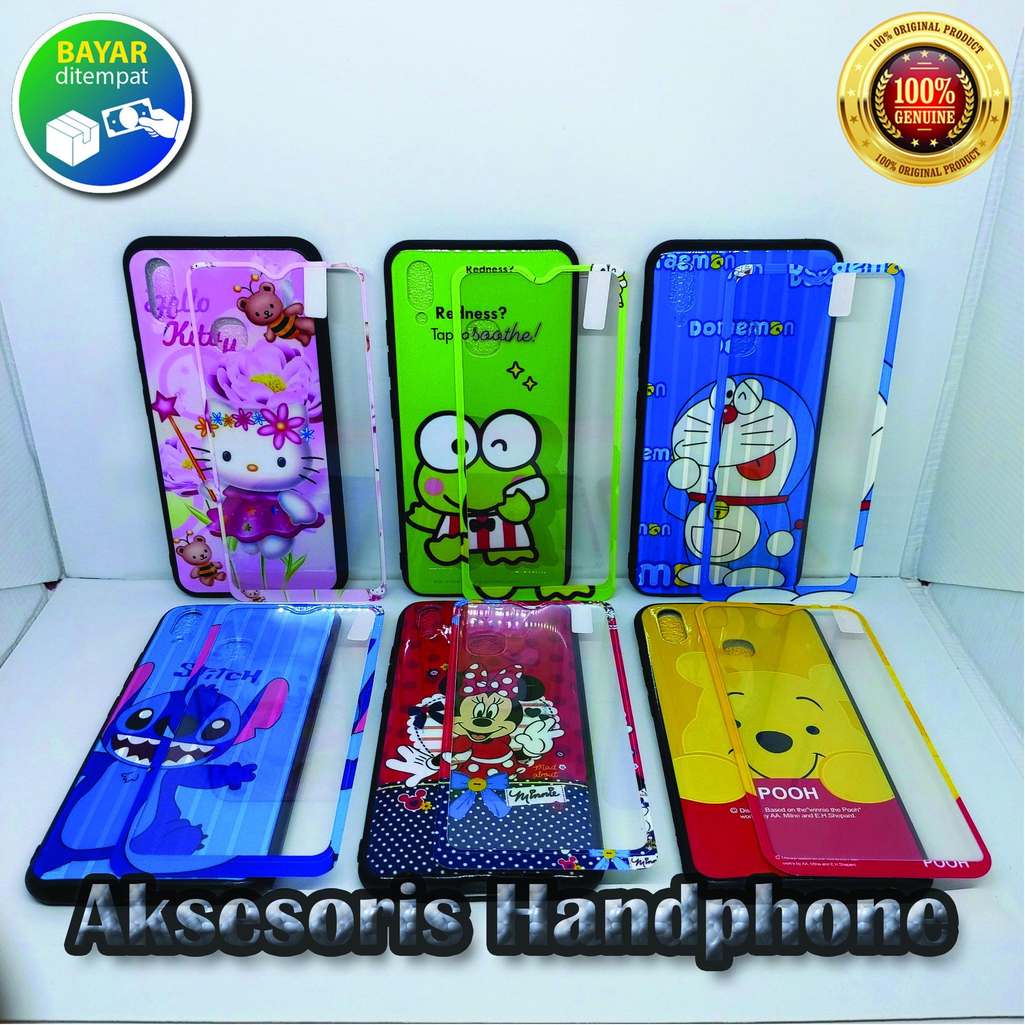 TPU Softcase Animasi Case Vivo Y91/Y93/Y95 Bonus Tempered Glass Motif