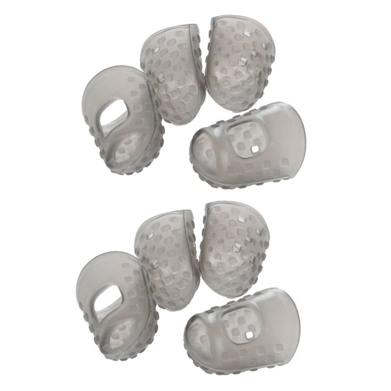 8Pcs New Soft Silicone Guitar Thumb Finger Picks Protector Fingertips (Gray XXS & M) Malaysia