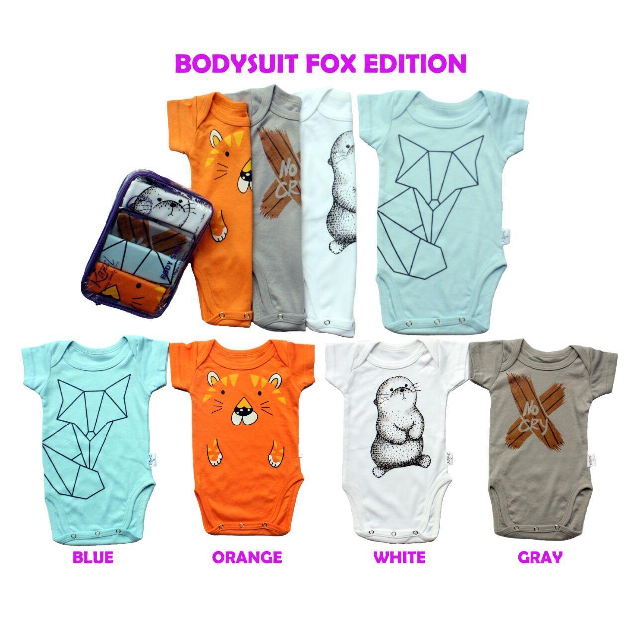 Kazel Bodysuit - Jumper Bayi - Fox Edition - Isi 4 pcs - Babyklik
