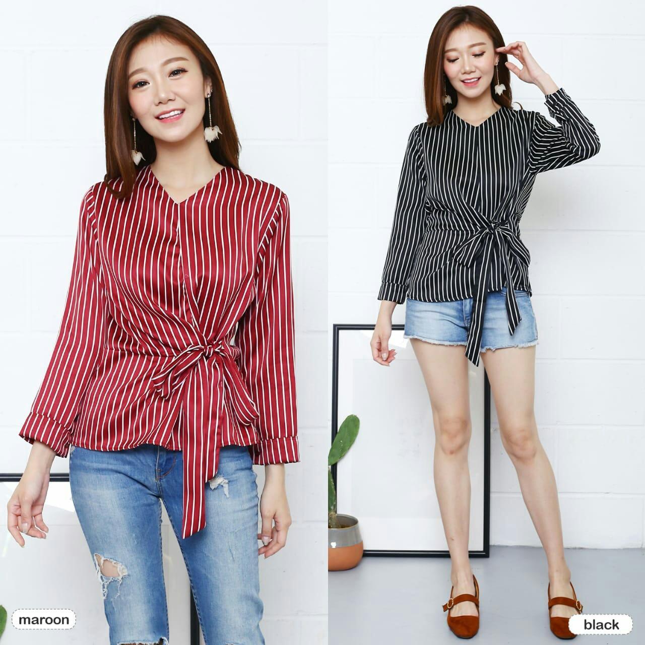 HagiosHolic Lovy Top  / Blouse Wanita / Atasan Wanita / Fashion Wanita / Blouse Korea / Top Wanita
