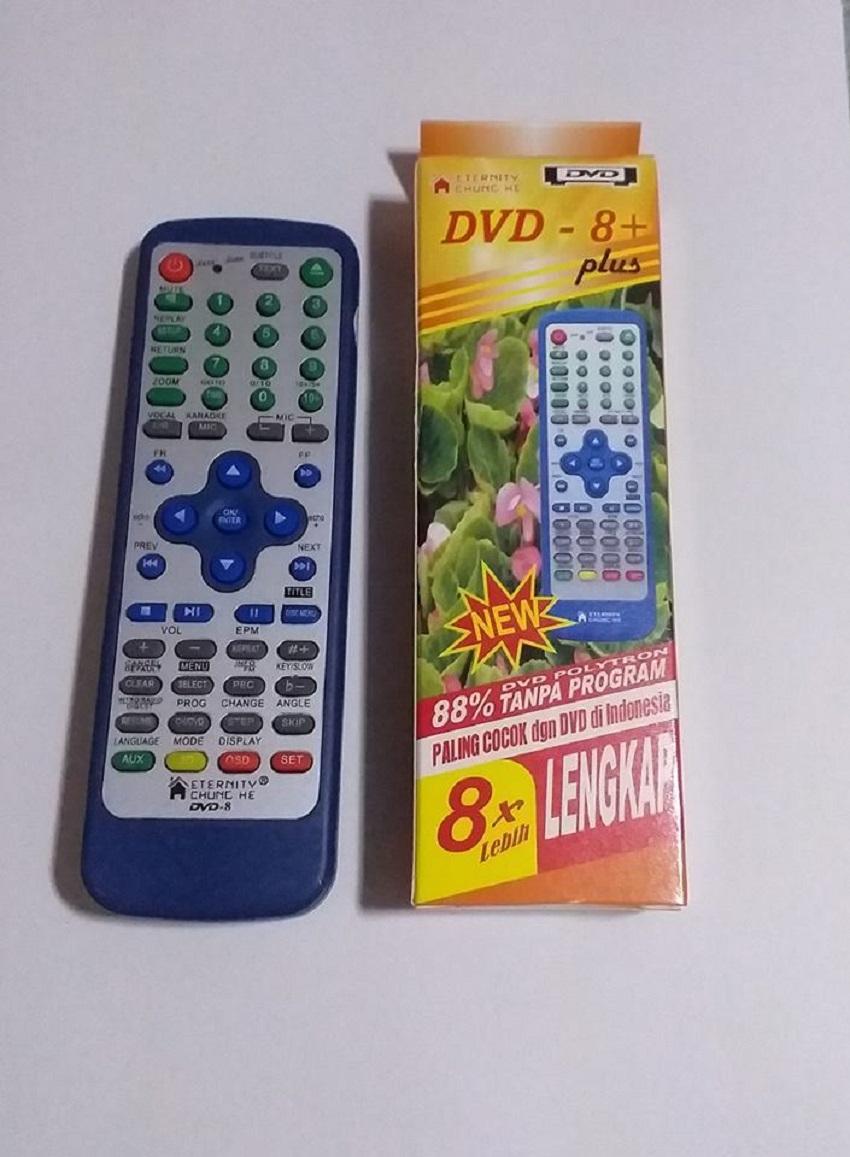 Remot/remote Dvd Multi Universal Bisa Untuk Semua Merk Dvd - Free 2 Pcs Baterai - Biru By Safanis.