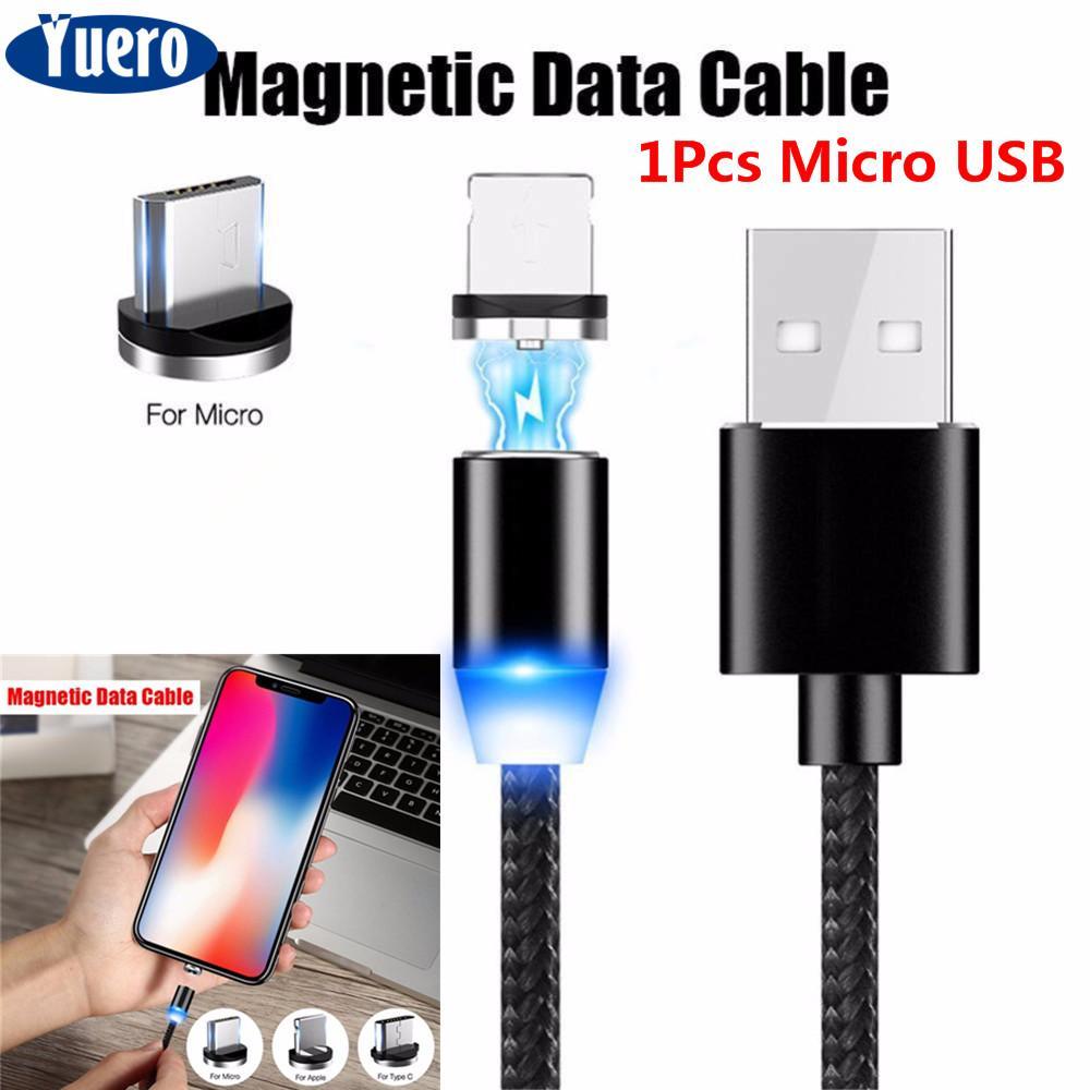 Rp 52.102. Yuero Cepat Pengisian Isi R USB Magnet Kabel IOS untuk iPhone Tipe C Magnet Charger Data ...