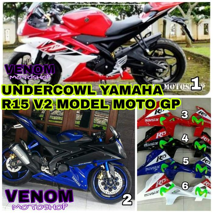 fairing bawah/undercowl yamaha R15 v2 model moto gp