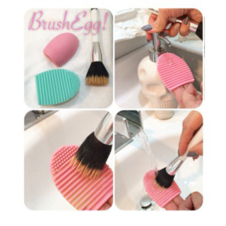 Brush Egg Pembersih Kuas Brush cleanser Egg cleanser BrushEgg thumbnail