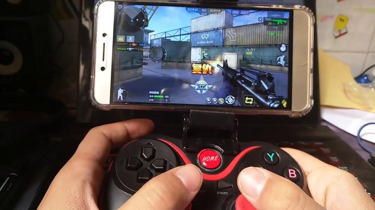 WIRELESS CONTROLLER X3 HOLDER Smart Nirkabel Bluetooth Gamepad Joystick Handle Grip Gaming Mobile Legends Tablet Laptop Pc Komputer Cpu untuk Android / IOS/ Iphone / Smartphone / Universal Mobile HItam