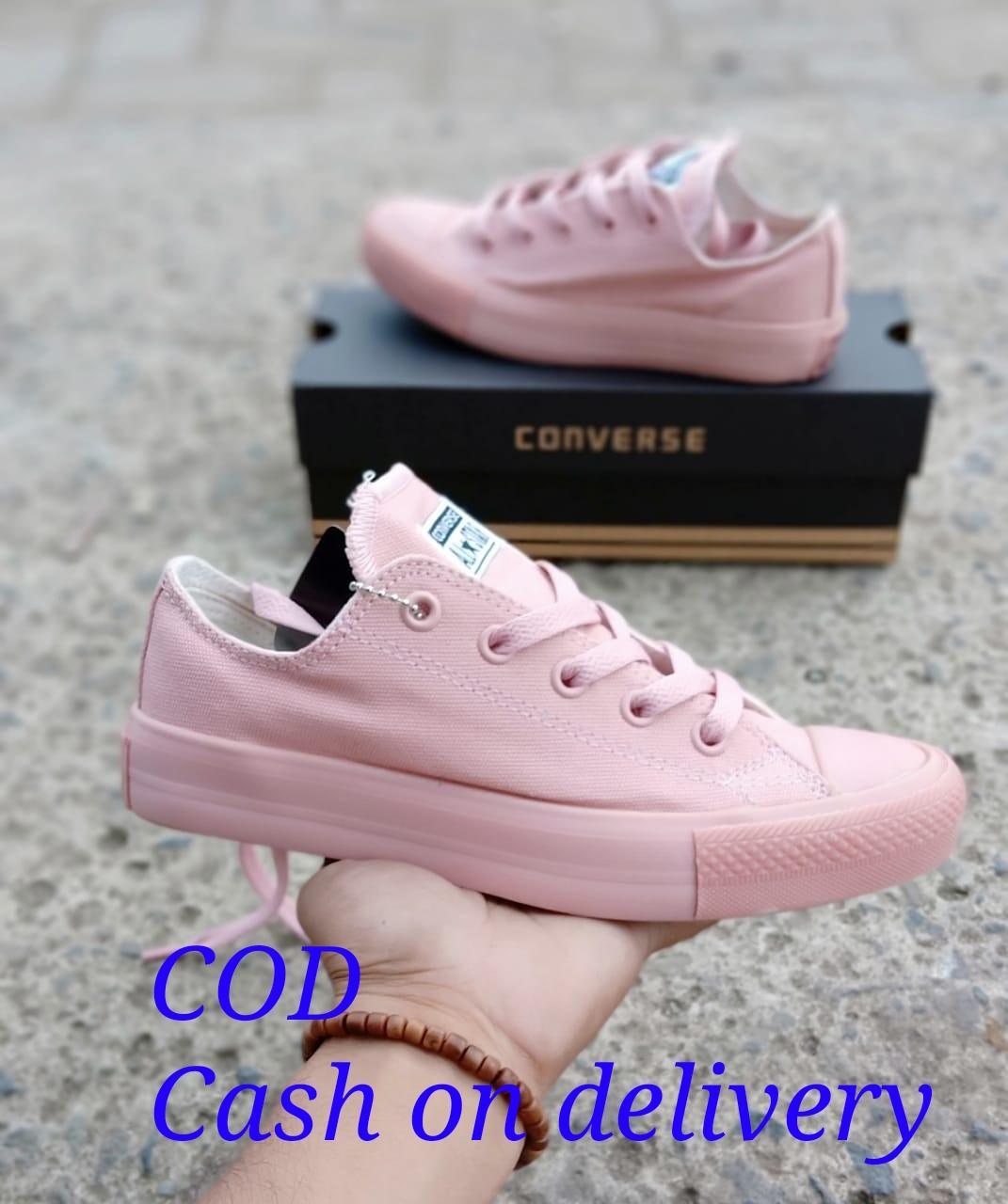 Sepatu Sneakers Conves Al Star Ct Peach For Woman-Sepatu Casual-Sepatu Sekolah By Casella Store.