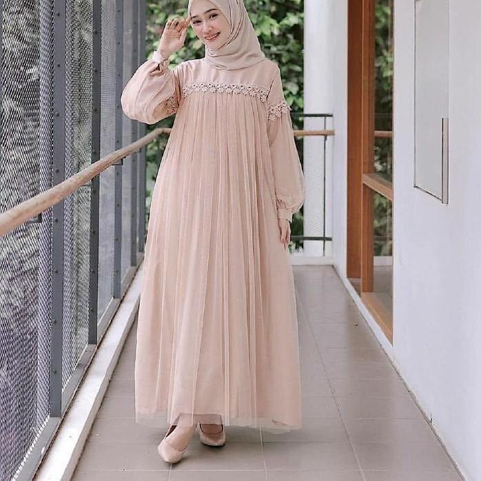 Rifa Store New Fashion Zoya Maxy Dress Tille Gaun Pesta Gamis Brukat Baju Kebaya Gamis Wanita Terbaru Gamis Syari Gamis Remaja Kebaya Untuk Wisuda Long Dress
