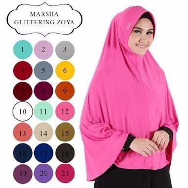 TERPOPULER khimar bergo jilbab syari marsha glitering zoya ori toko falin