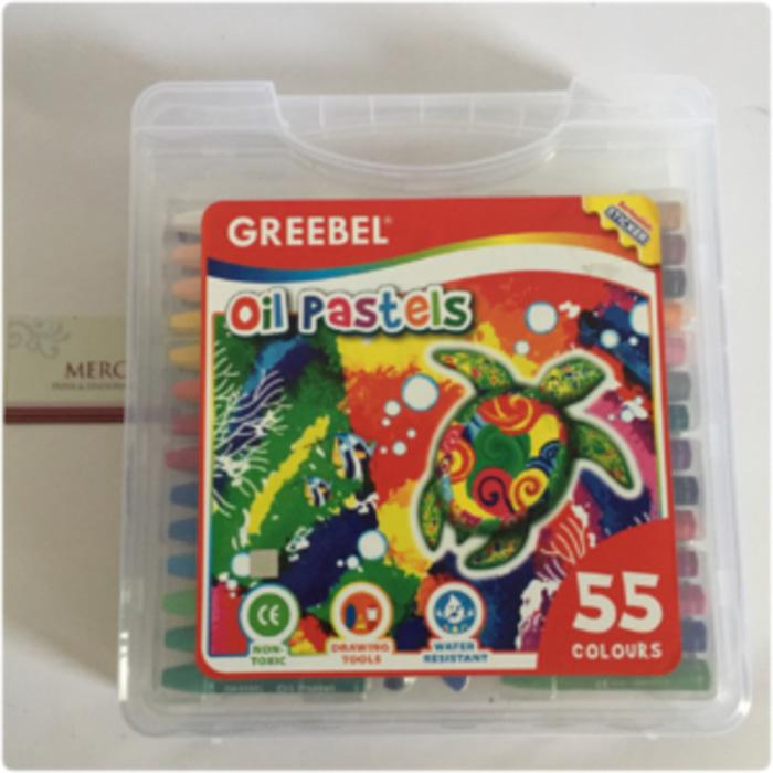 Crayon Greebel isi 55 oil pastels ORIGINAL 100%