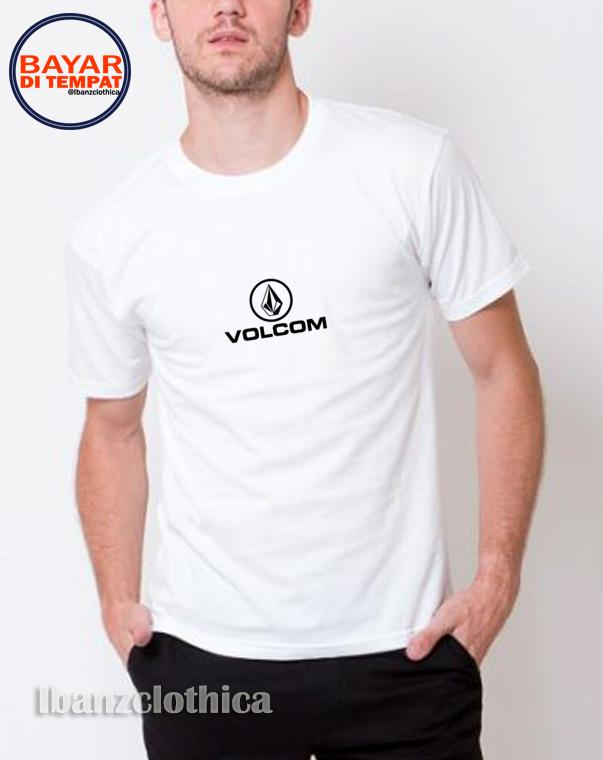 Ibanzclothica - Kaos Pria Warna Hitam - Putih / Kaos Distro / Kaos Volcom 1 Premium