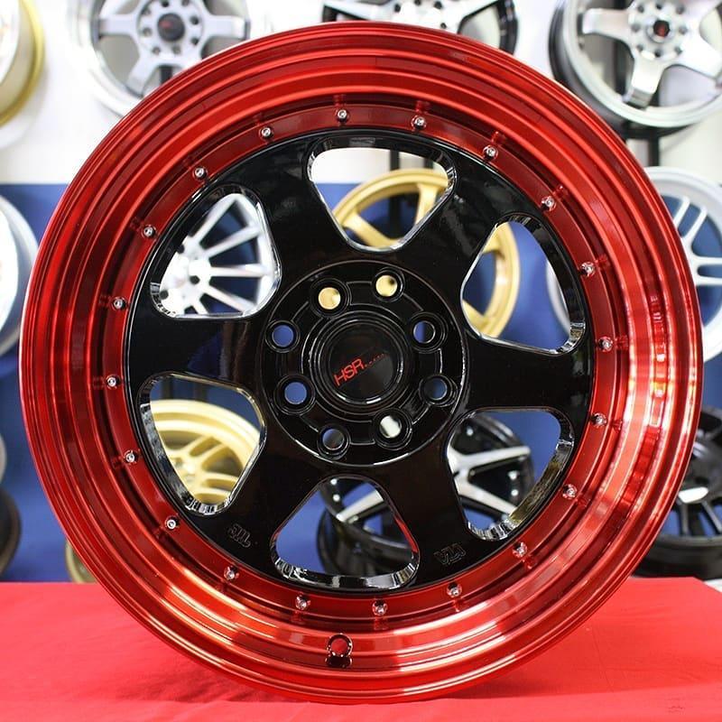 Velg Mobil Avanza Xenia Mobilio Brio Livina Murah HSRRUMOI RED R15 Racing