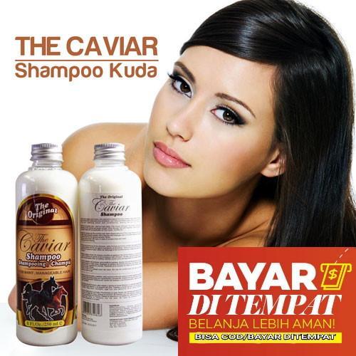 Shampoo Penumbuh Rambut Shampo Kuda The Caviar Original 100% BPOM Shampoo Pemanjang Rambut Shampoo Penebal