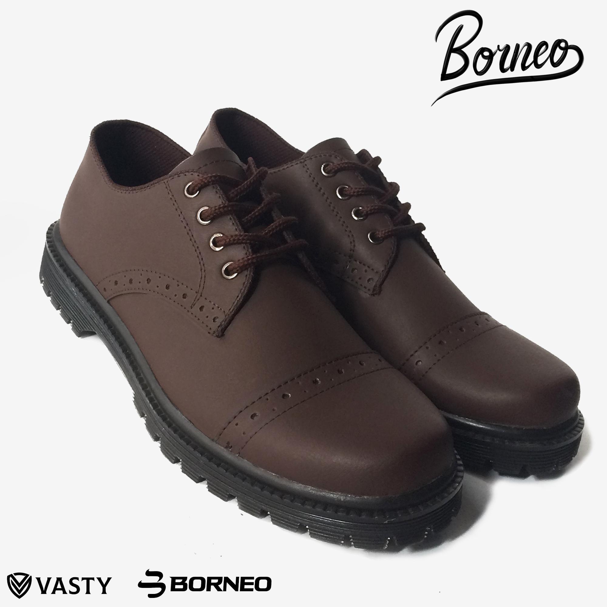 Sepatu pantofel  pria sepatu kantor pria tali sepatu pesta formal Sepatu kasual Borneo BN. 1
