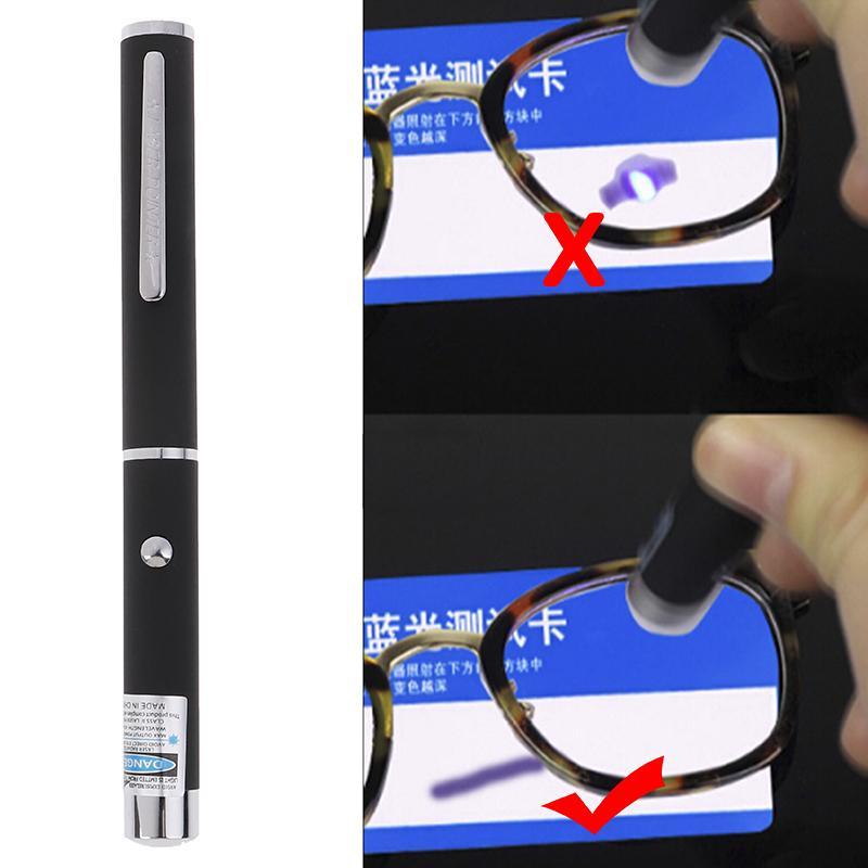 Blowing flowers Anti Blue Light Glasses Test Pen Teaching Flashlight Cat Catch The Beam Light  Int: One size
