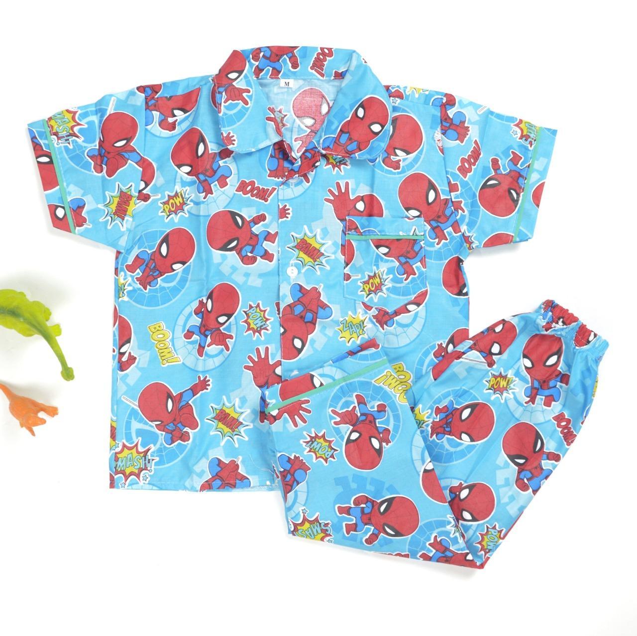 Setelan Baju Tidur / Piyama Anak Kids (6bulan-4tahun) Just Choose Color. By Zivanka