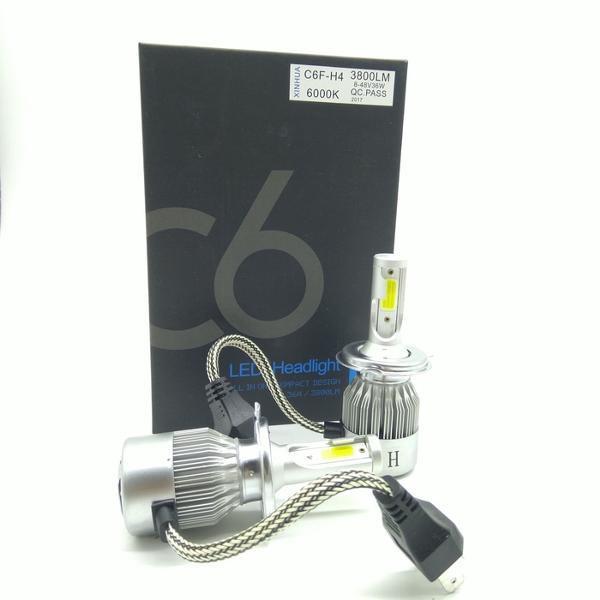 Promo Unik TG Lampu LED Mobil H4 Cob C6 Black Series Chips 36W