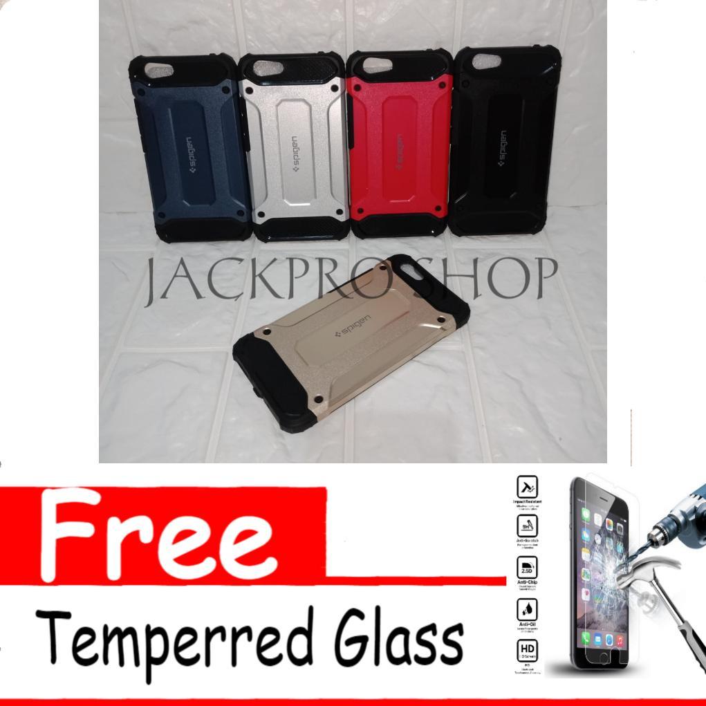 Case Spigen Iron Man For Vivo Y53 Free Temperred Glass