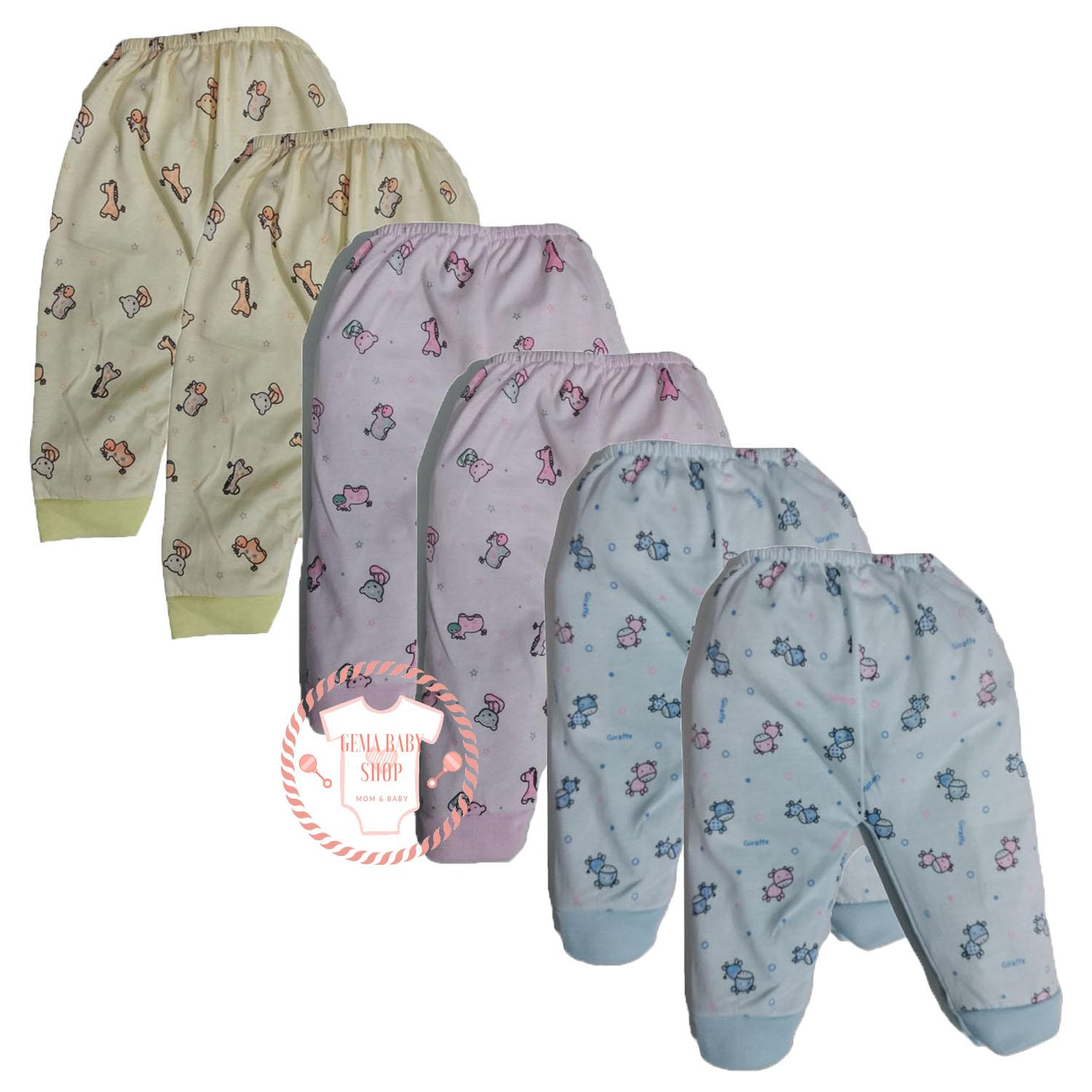 Gema 6pcs Celana Panjang Anak Bayi Warna Motif Catton Happy Time By Gemababy Shop.