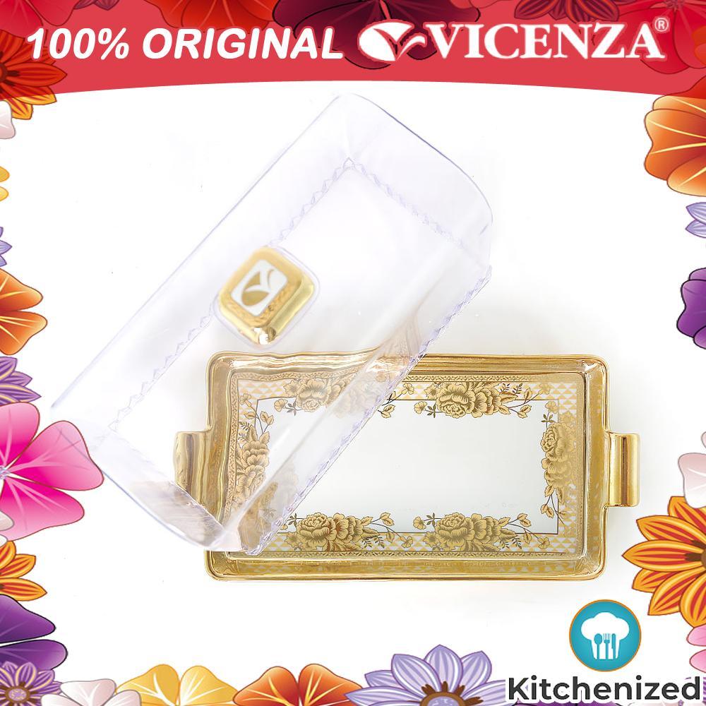 Original Vicenza Square Cake Plate P76 Pa76 Crp76 Tempat Kue / Roti Murah Cantik Mewah By Kitchenized.
