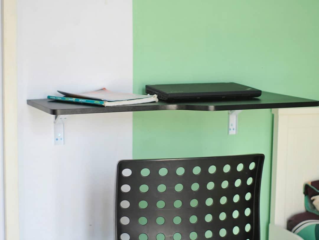 decorunicfloating desk steffy meja lipat gantung ukuran 80x40 cm meja dinding minimalis bonus skrup fischer i
