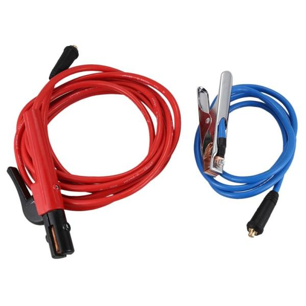 Welding Machine Accessories 200 Amp Electrode Holder 5M Cable+200 Amp Earth Clamp 2M Cable,Both with Dkj10-25 Connector