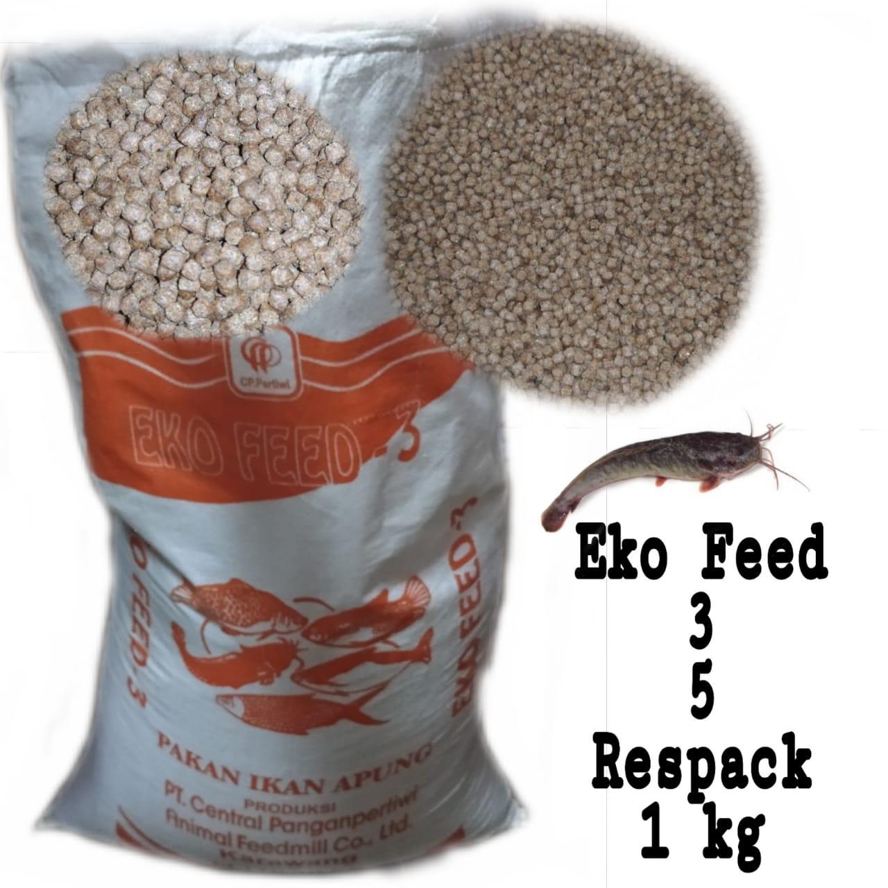 Pelet Ikan Eko Feed 3 Pakan Ikan Lele 1kg Lazada Indonesia
