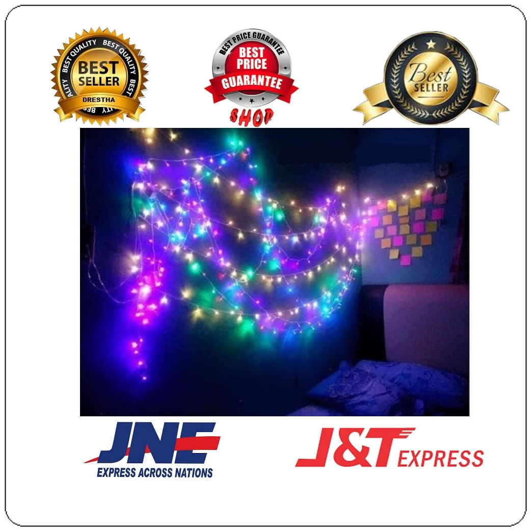 BEST PRICE SHOP (RAINBOW) Lampu Tumblr 10 Meter LED Box Natal Murah Tumbler Light Hias Dekorasi Gantung Kamar Tidur
