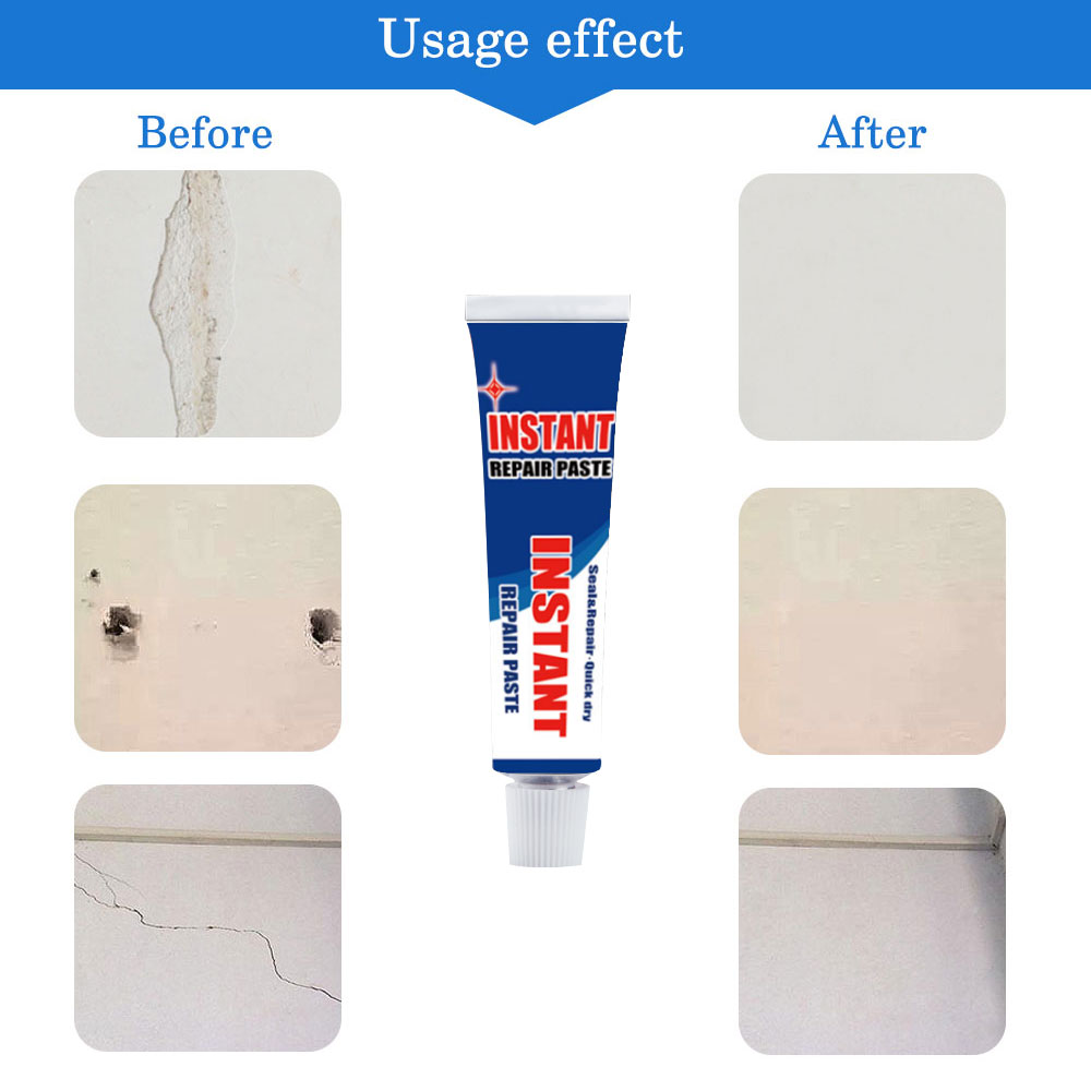 Quiversnowy Wall Repair Paste Magic White Agent Latex Paint Cream Household Hole Disappear Waterproof Mouldproof Wall Mending Agent