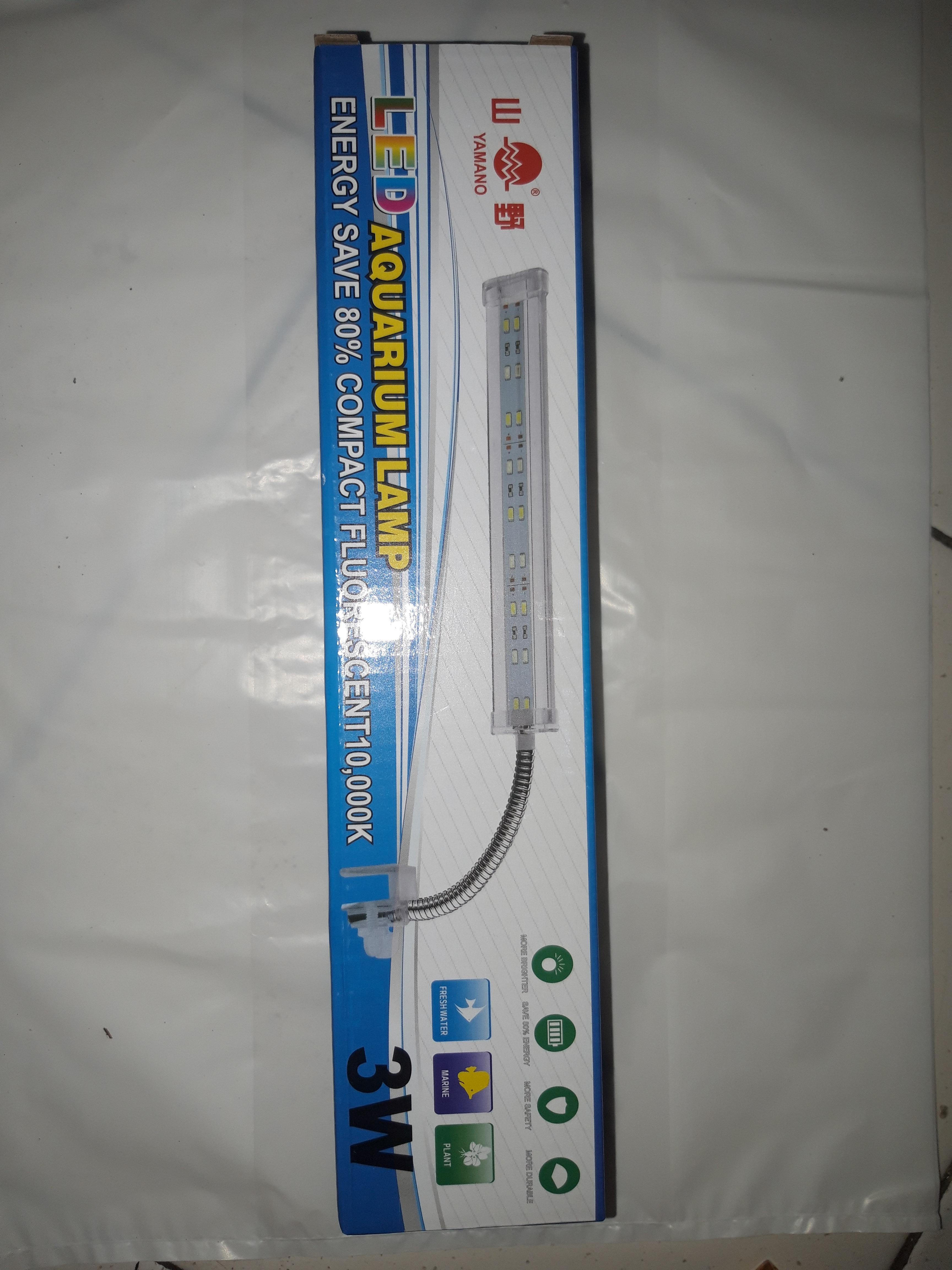 Aquarium Aquascape Lampu Led Yamano 3 W 3 Watt Jepit