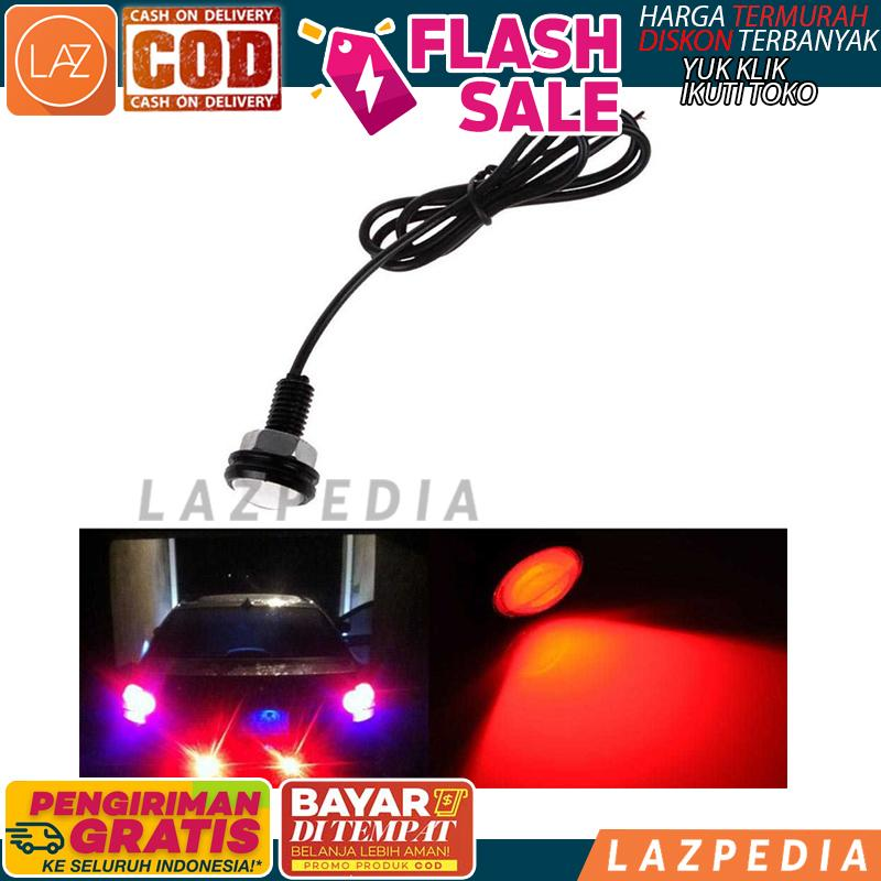 Laz COD - [MERAH 1 PCS 9W 500] Car Styling DIY Lumens Waterproof Eagle Eye LED Lamp / Lampu Mobil - Lazpedia A477