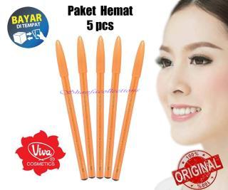 PROMO 5 PCS - Pensil Alis Viva Queen Eyebrow Pencil Pencil Eyebrow Pensil Makeup Berkualitas- Warna Coklat dan Hitam thumbnail