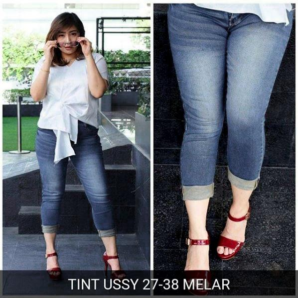 XYX Clothier~USSY TINT super promo!!!!!!Jeans Wanita Sobek 601057c228