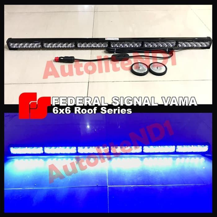 STROBO ROOF TOP ATAP MAGNET FEDERAL SIGNAL 6 BAR X 6 TITIK / AKSESORIS MOTOR / MOBIL / VARIASI / BERKUALITAS / OTO-A2977