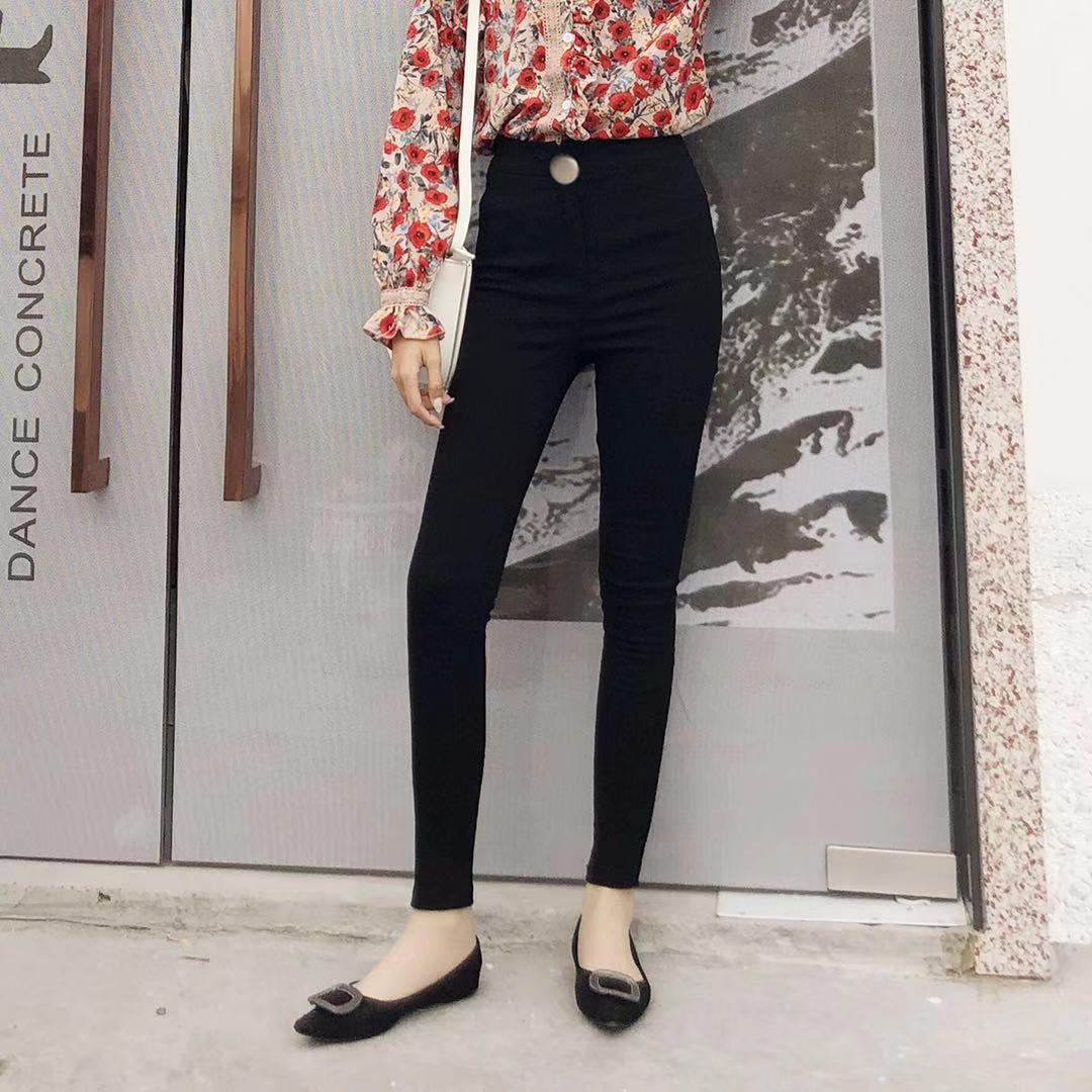 2019 Black Leggings Female Outer Wear Trousers 2019 Spring And Autumn New Style Korean Style Ultra-Stretch Tight Slimming Skinny Pencil By Taobao Collection.