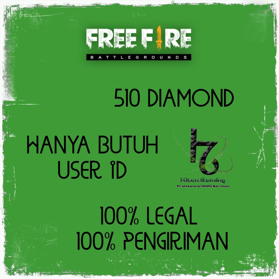 Top Up 510 Diamond Free Fire