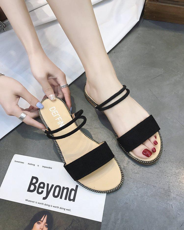 Sandals Female Bohemian Fairy Sandals Slipper Double Purpose Female 2019 Summer Flat Simple Holiday Versatile Seaside By Taobao Collection.