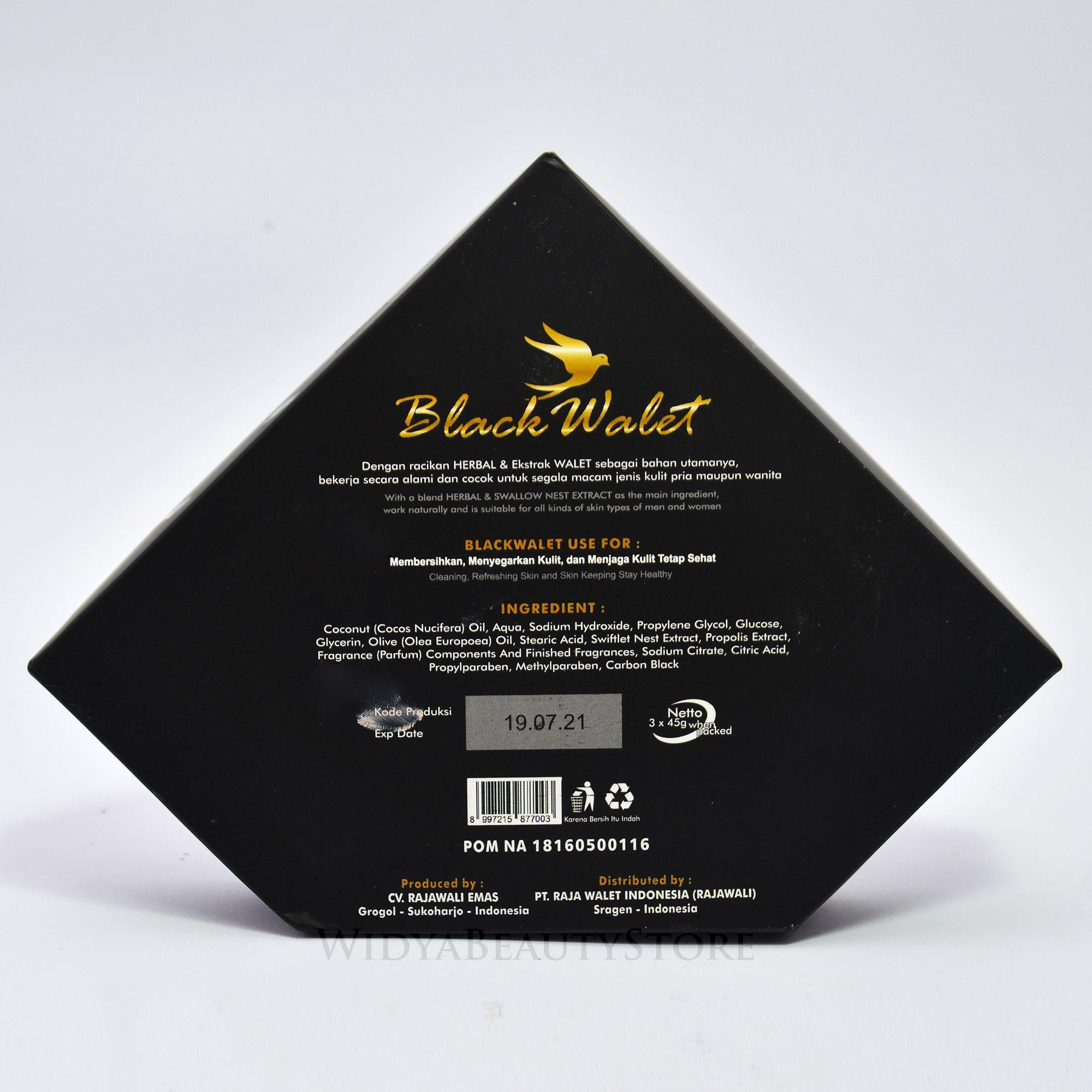 Sabun Black Walet Facial Soap 3 Pcs Bar Original 100 Lazada Indonesia